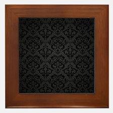 Elegant Black Framed Tile