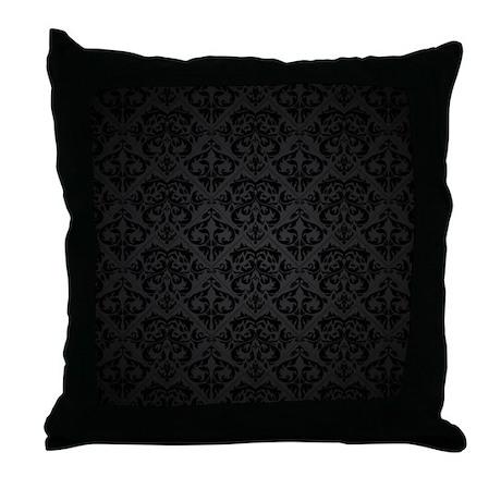 Elegant Black Throw Pillow by BestGear2