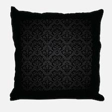 Elegant Black Throw Pillow