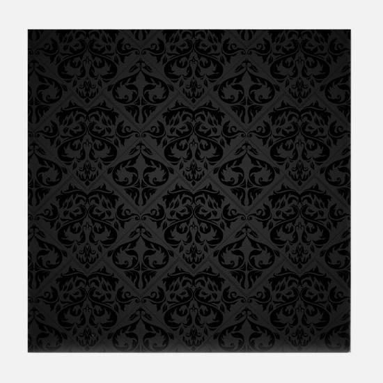 Elegant Black Tile Coaster