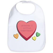 """Grandma's Little Sweetheart"" candy hearts Bib"