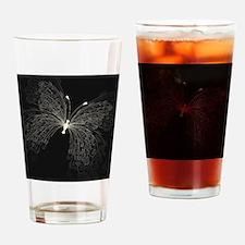 Elegant Butterfly Drinking Glass
