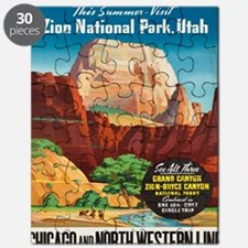 Cute Vintage national parks Puzzle