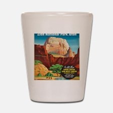 Cute Zion national park Shot Glass