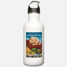 Vintage poster - Zion Water Bottle