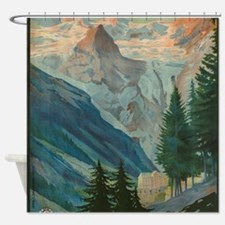 Cute Mountains Shower Curtain