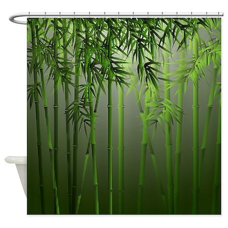 Bamboo Forest Shower Curtain By Digitalrealityart