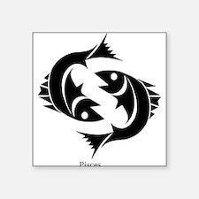 """Funny Fish design Square Sticker 3"""" x 3"""""""