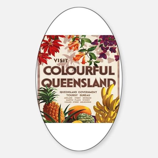 Cute Brisbane Sticker (Oval)