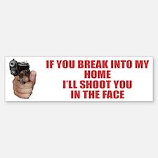 I Shoot First No Trespassing Bumper Bumper Bumper Sticker