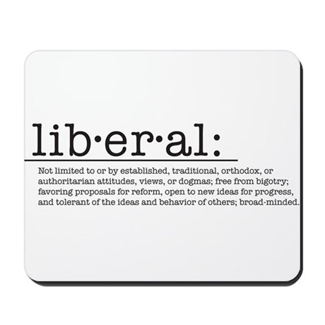 Liberal Definition Mousepad
