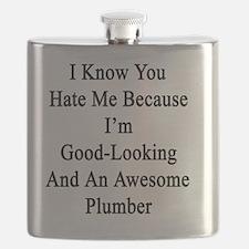 Cute Plumbers Flask