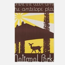 Funny Antelope park Postcards (Package of 8)
