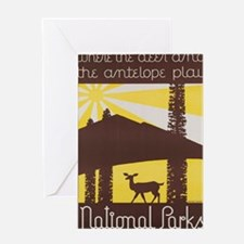 Unique Antelope park Greeting Card