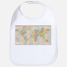 World Time Zone Map Bib
