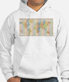 World Time Zone Map Hoodie