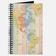 World Time Zone Map Journal