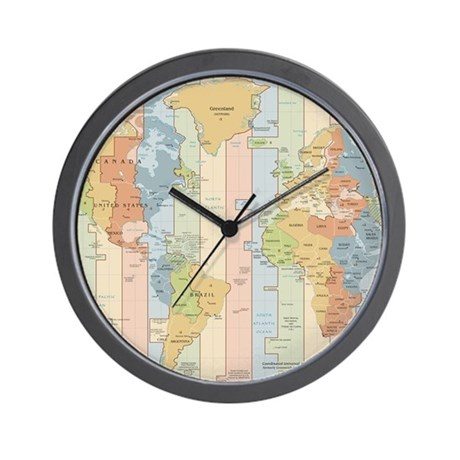 World time zone map wall clock by admin cp17960464 for World time zone wall clocks