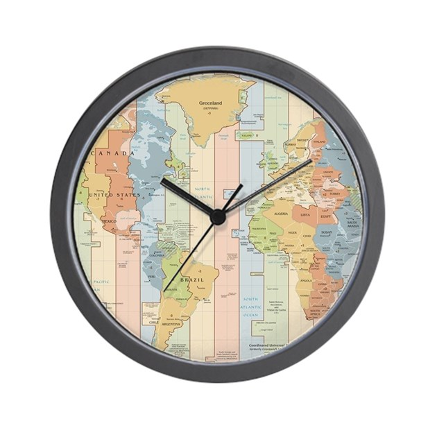 World time zone map wall clock by admin cp17960464 for Time zone wall clocks australia
