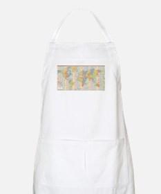 World Time Zone Map Apron
