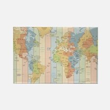 World Time Zone Map Magnets