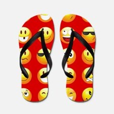 red emojis Flip Flops