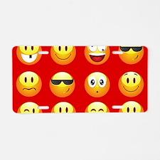 red emojis Aluminum License Plate