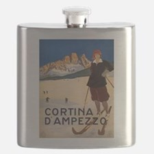 Vintage poster - Cortina d'Amprezzo Flask