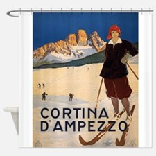 Vintage poster - Cortina d'Amprezzo Shower Curtain