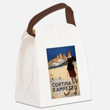 Vintage poster - Cortina d'Amprez Canvas Lunch Bag