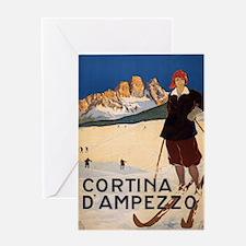 Vintage poster - Cortina d'Amprezzo Greeting Cards