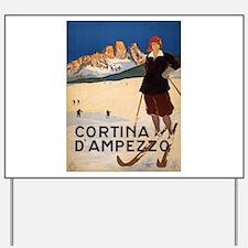 Vintage poster - Cortina d'Amprezzo Yard Sign