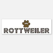 Rottweiler (dog paw) Bumper Bumper Bumper Sticker