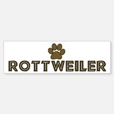 Rottweiler (dog paw) Bumper Car Car Sticker