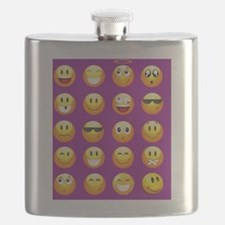Cute Smiling face Flask