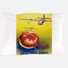 Vintage poster - Qantas Pillow Case