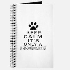 Curly-Coated Retriever Keep Calm Designs Journal