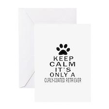 Curly-Coated Retriever Keep Calm Des Greeting Card