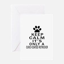 Curly-Coated Retriever Keep Calm Des Greeting Card