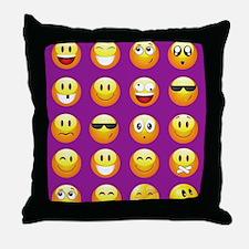 Funny Smilies Throw Pillow