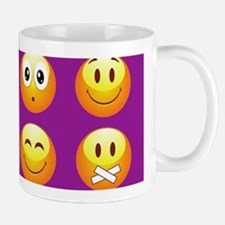 purple emojis Mugs