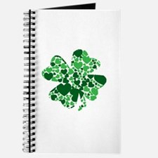 Shamrock With Green Hearts St Patricks Day Journal