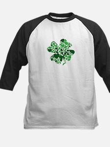 Shamrock With Green Hearts St Patricks Day Basebal