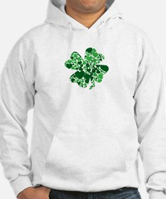 Shamrock With Green Hearts St Patricks Day Hoodie