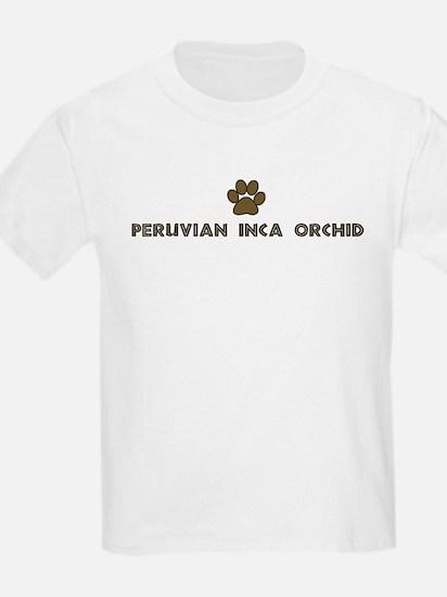 Peruvian Inca Orchid (dog paw T-Shirt