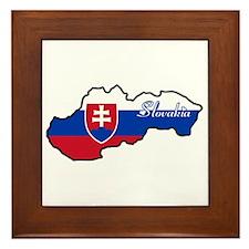 Cool Slovakia Framed Tile