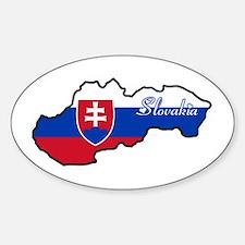 Cool Slovakia Oval Decal
