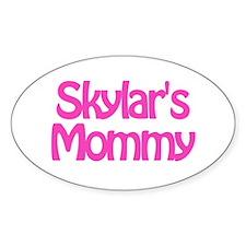 Skylar's Mommy Oval Decal
