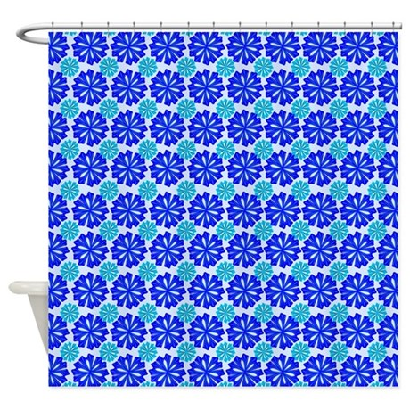 Blue Flowers Shower Curtain By Wowtimesz