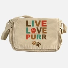 Live Love Purr Messenger Bag